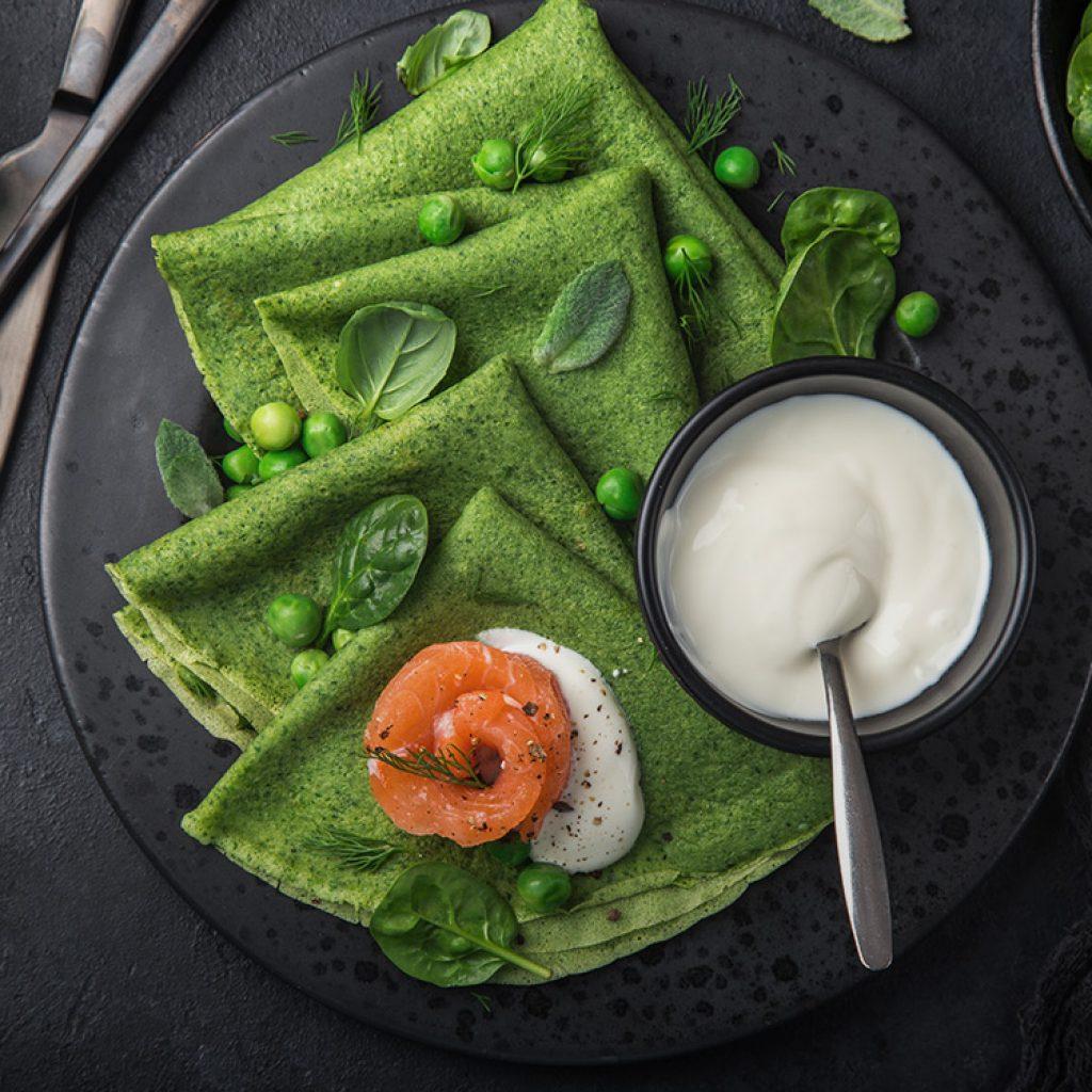 Clatite cu Green Sriracha