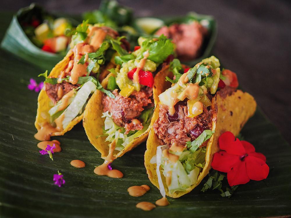 Tacos vegan cu Jackfruit